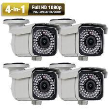 AHD 2.6MP 1080P 66IR 2.8-12mm Varifocal Lens 4-in-1 960H OSD Security Camera 4pc