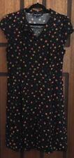 Worn Once Princess Highway Black Floral Print Dress - Size 12