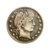 1897 1/4 Dollar münze gedenkmünze D2D6 Y1M6 U8T1