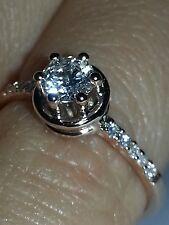 anello solitario oro rosa 18 kt e diamanti naturali - promessa matrimonio