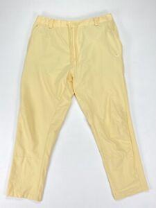 Nike Golf Flex Novelty Golf Pants Light Yellow Standard Fit SZ ( AV4123-294 )