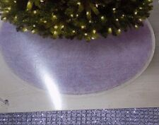 "NEW 52"" Lavender Purple Silver Sparkle Christmas Tree Skirt NWT - FREE SHIPPING"