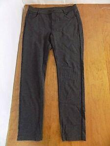 Athleta Women's Jean-styled Sport Stretch Skinny leg Pants Sz 12 Charcoal