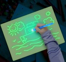 Noa Store Fun Drawing Pad Board Glow in Dark with Light for Kids Painting Board