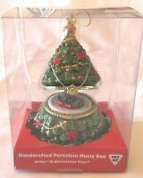 Mr. Christmas Porcelain Christmas Tree Music Box Animated Train O Christmas Tree