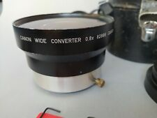 Canon wide converter 0.8x with adapters