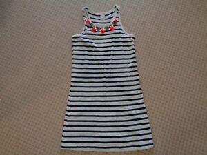GIRLS CREWCUTS Cotton DRESS    Pretty Neckline decoration   SIZE 10. EEUC