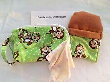 Fingerling Monkey Case, Securing Leash, Blanket, Sleeping Bag -Unisex Monkey Prt