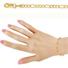 4ced2db3c180 10 Quilates Oro Amarillo 2.6mm Talla Diamante Figaro