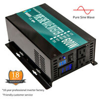 36V to 120V Pure Sine Wave Inverter 600W DC to AC Car Power Inverter for Camp RV