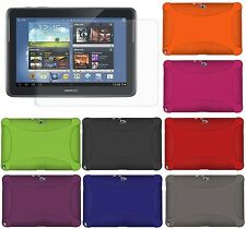 AMZER Silicone Skin Case Jelly For Samsung GALAXY Note 10.1 GT N8000 N8010 Best