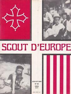 revue scout d'europe juillet 1981, n°84