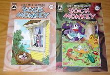 Sock Monkey vol. 3 #1-2 VF/NM complete series - tony millionaire dark horse 2000