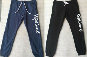 Rip curl Womens Surfing Jogger Bottoms FleeceTrousers Cuffed Sweat Pants SZ 6-16