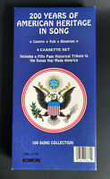 200 YEARS OF AMERICAN HERITAGE IN SONG 4 Sealed Cassette Tapes In Box w/ Booklet