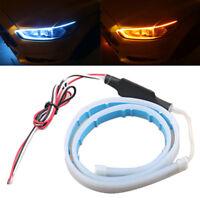 2x45cm DRL Flexible LED Strip Daytime Running Lights Tube Turn Signal Li PM