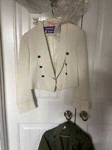 Vintage USAF Men's  White Mess Dress Jacket