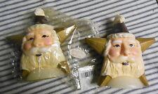 Lot of 2 Christmas Candles Santa Star Nos Robert Alan