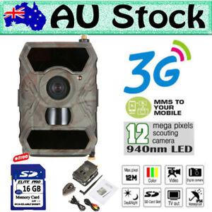 AU 3G Network MMS Game Farm Security Hunting Trail Camera WildGuarder 890WG+16GB