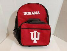IU Indiana University Back Pack Lunch Bag Hoosiers School Sports Shoulder Straps