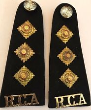 Royal Canadian Artillery Captain's RCA Shoulder Boards / Epaulettes  #5015