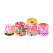 10x Fancy Acrylic Resin Kids Rings Mixed Colours Children Kids Costume Gift 3C