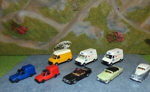 Lot de 8 voitures au 1/87 de Praline