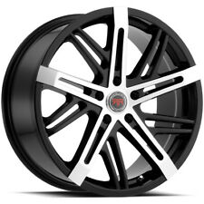 4 Revolution R19 22x85 5x45 40mm Blackmachined Wheels Rims 22 Inch Fits 2011 Toyota Camry