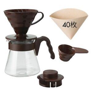 Japan HARIO V60 Coffee Server 02 Set 1-4 cups 40 Filters 700ml
