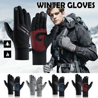 Mens Winter Cycling Ski Snowboard Gloves Touch Screen Waterproof Warm Thermal