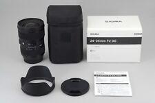 【A- Mint w/Box】 SIGMA A Art Series 24-35mm f/2 DG HSM Lens for Canon JAPAN #2693