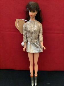 Vintage 1962 Midge 1958 Barbie  w/ Flip Brown Hair blue eyes dressed W/ Boot