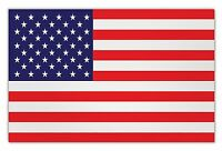 """Giant Size Magnet - United States Flag, USA, Red, White and Blue - 12"""" x 7.75"""""""