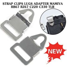 2x For Mamiya RB67 RZ67 C220 C330 TLR Camera Strap Clips Lugs Adapter