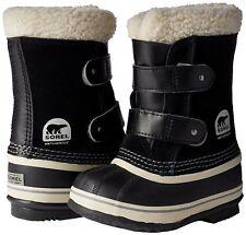 New Kids/Toddler Boy Girl Size 8 Sorel 1964 Pac Strap Black Winter Snow Boot -40
