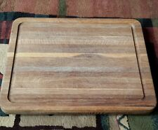 """Solid Oak Wood Professional Chefs Footed Cutting Chopping Board 1 1/2"""" Thick"""