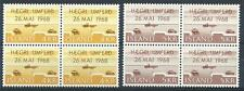 Iceland 1968 Sc# 397-98 set Right-hand driving Cars blocks 4 MNH