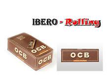 PAPEL DE FUMAR PARA LIAR OCB VIRGIN MARRÓN CORTO ROLLING PAPER CAJA 50 LIBRITOS