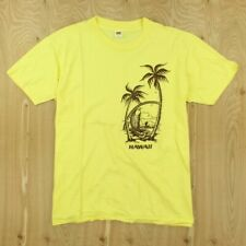 vtg t-shirt single stitch LARGE deadstock nos nwot HANES 70's 80's HAWAII usa