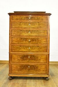 STUNNING Antique continental tallboy chest of drawers
