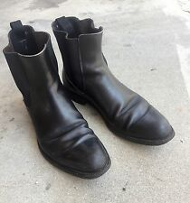 Mens black leather ankle PRADA boots VINTAGE style