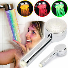 AUTOMATIC 7 COLOUR CHANGING LED BATHROOM SHOWER HEAD WATER HOME GLOW BATHROOM UK