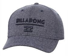 NEW + TAG BILLABONG MENS BOYS UNITY L-XL CURVED PEAK FLEXFIT CAP HAT NAVY HEATH