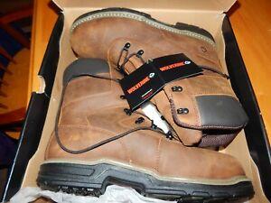 """Wolverine mens 8"""" Marauder Steel  Toe Waterproof work boot  size 13 NIB"""