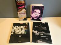GUITAR GIG BAG HENDRIX ELECTRIC GYPSY ROCK CHRONICLES STATE OF THE AXE  BOOK LOT