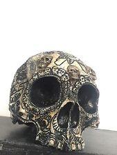 Dia De Los Muertos Real Human Skull Replica Resin & Marble DusZane Wylie Cert.