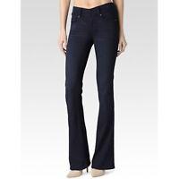 PAIGE $199 Women's Sz 25 Hidden Hill Boot Cut Jeans Dark Wash W28 L29 EUC