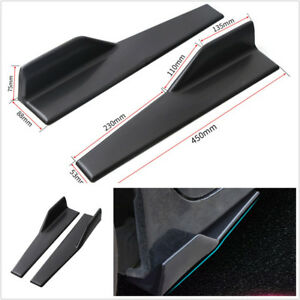 One Pair Car Side Skirt Spoiler Rocker Splitter Wing Anti-Scratch Matt Black