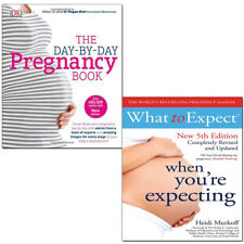 Day-by-Day Pregnancy Book and What to Expect When You're 2 Books Collection Set