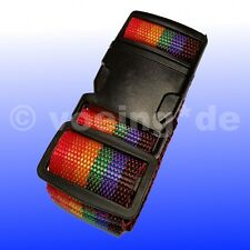 """Koffergurt Kofferband Gepäckband Koffer-Gurt Koffer-Band im Design: """"Regenbogen"""""""